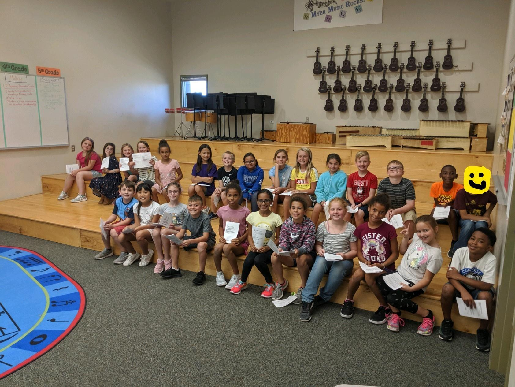 children in choir