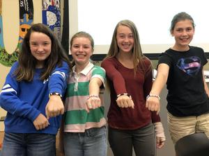 students with bracelents