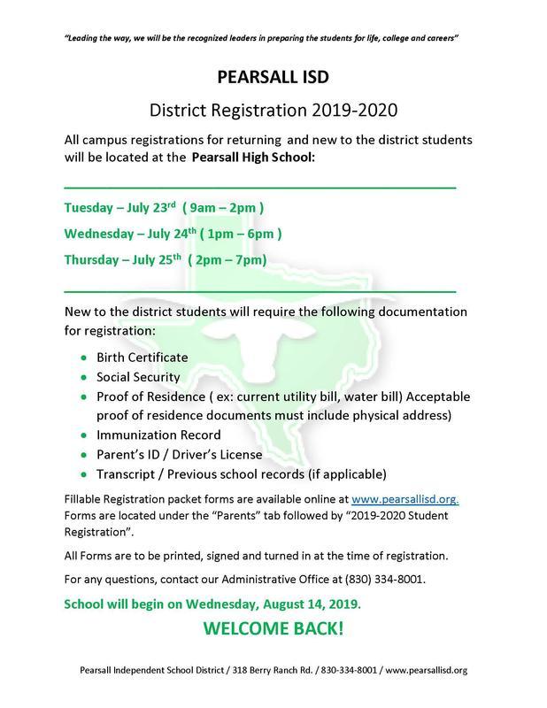 2019-2020 Student Registration Thumbnail Image