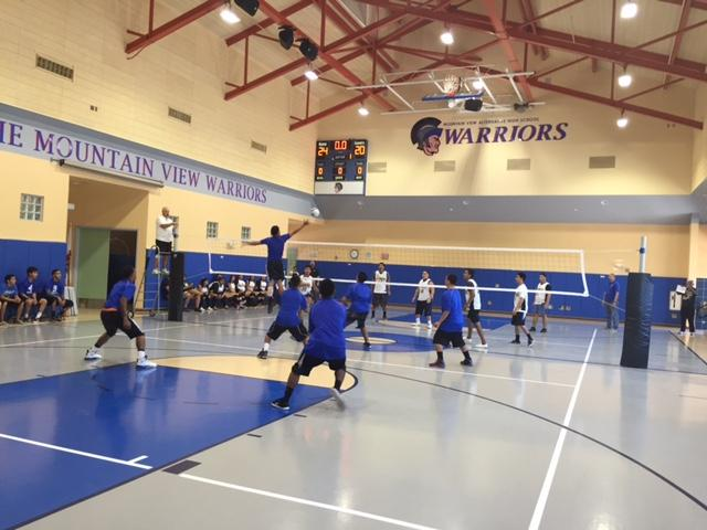 Boys Volleyball wins their first match