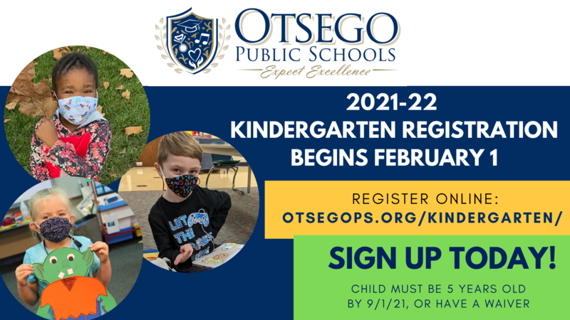 graphic that shows Kindergarten registration information, same as text in link.