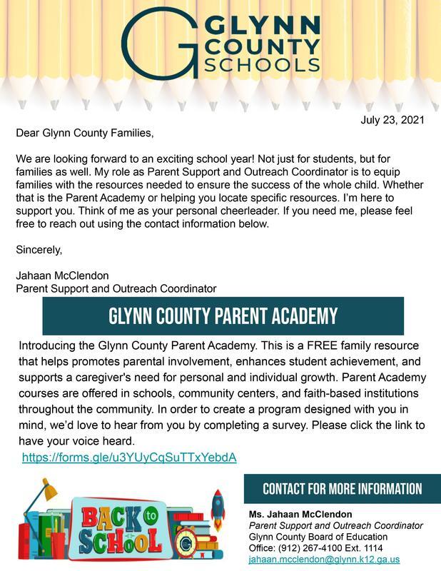 Parent Academy Survey Flyer