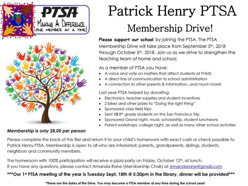 PTSA Membership Drive Featured Photo
