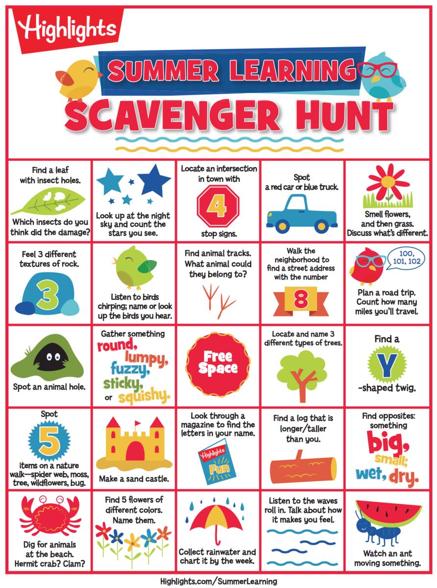 Summer Scavenger Bingo