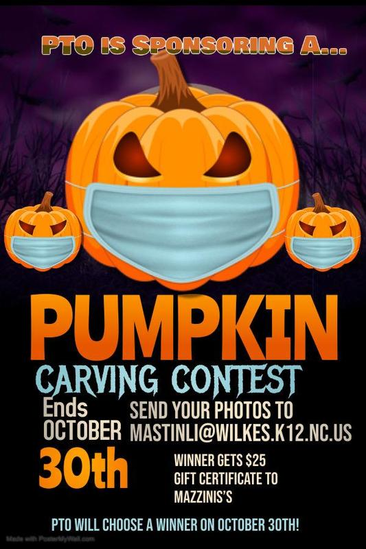 Pumpkin Carving Contest - Send pics to mastinli@wilkes.k12.nc.us by Oct. 30th