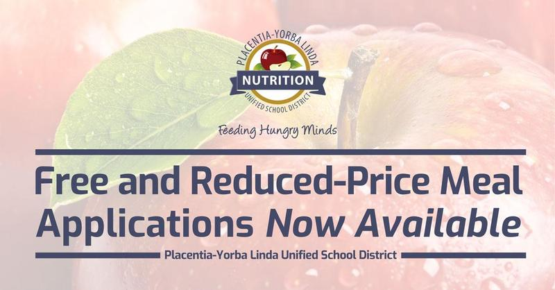 Free and Reduced Price Meal Apps now available.