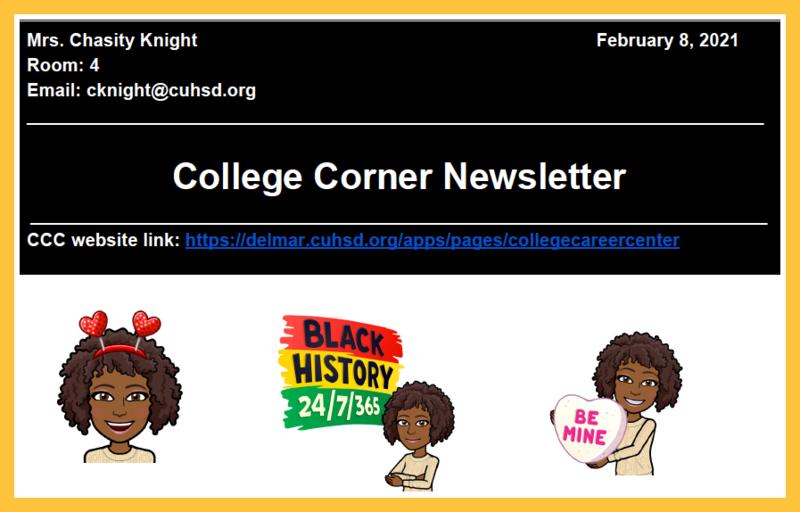 college corner newsletter feb 8 2021