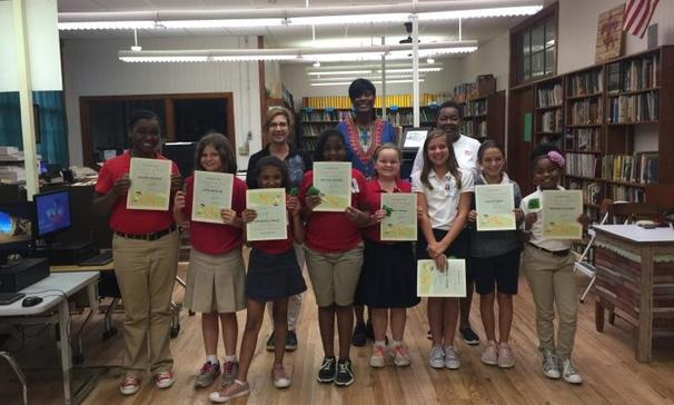 Some of Mrs. Karla Miller's 5th-grade students at PBHS achieved perfect attendance.
