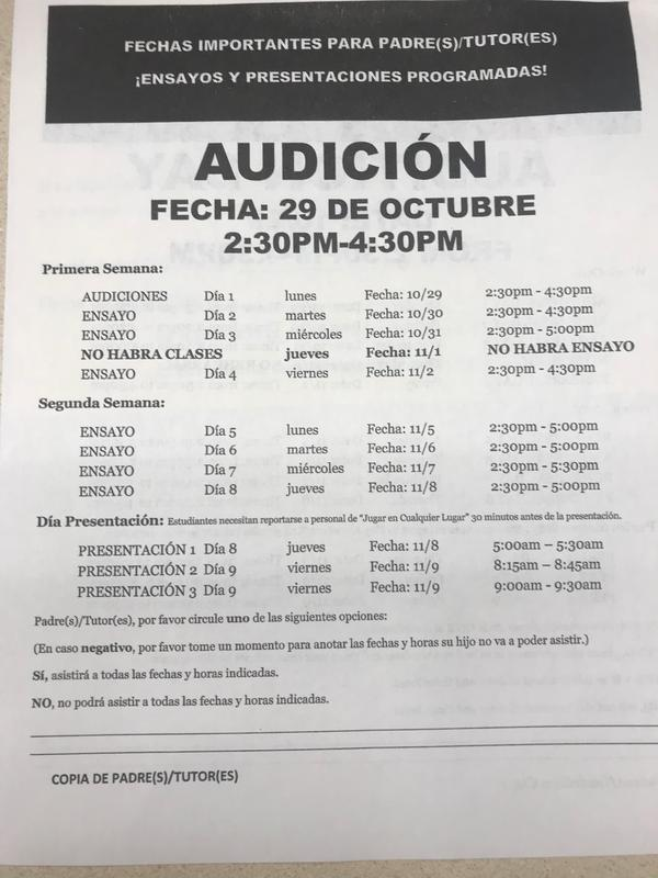 Playhouse Merced Auditions Flyer