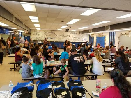 A room full of parents at Back to School Night