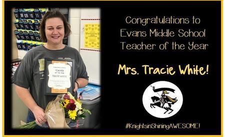 EMS Teacher of the Year Mrs. White