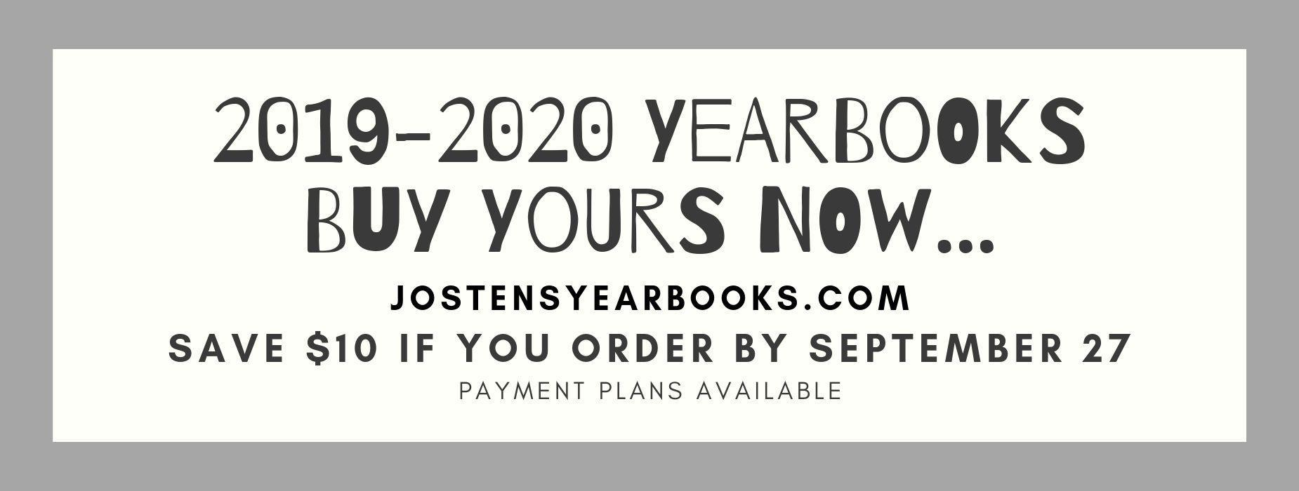 Order Early at jostensyearbooks.com