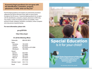 """""""Special Education: Is it for Your Child?"""" Brochure"""