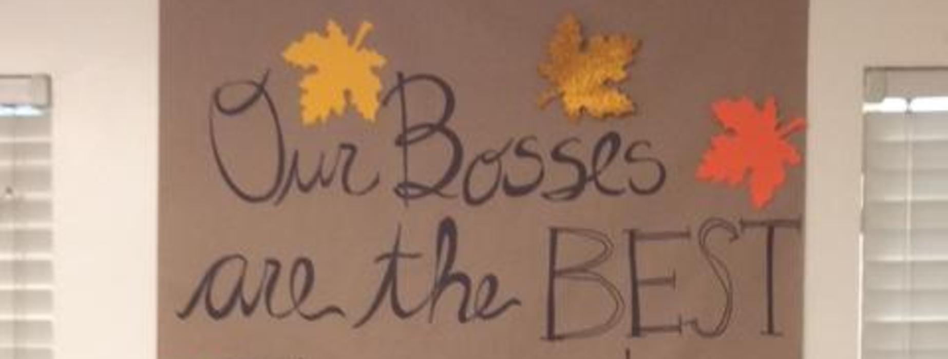 Our Bosses are the Best Banner
