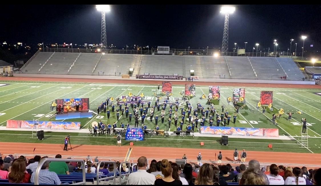 The VMHS Patriot Band during their Finals performance