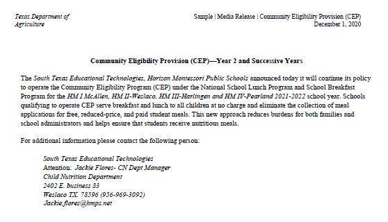 Media Release Cep Featured Photo