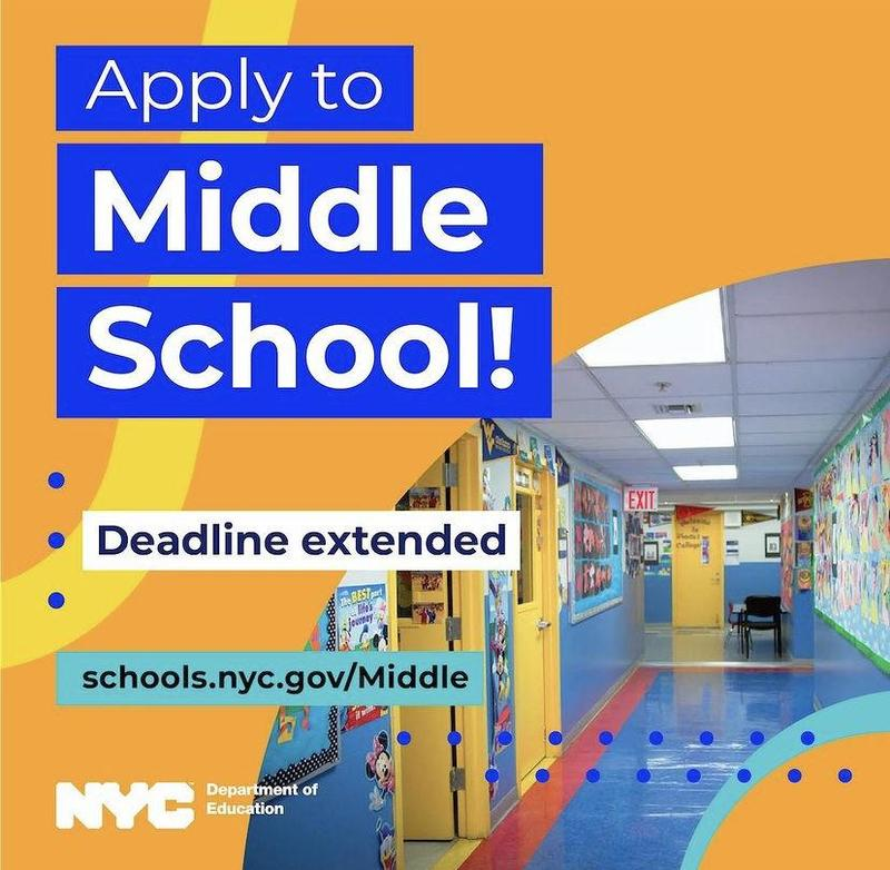 Middle School Deadline Extended! Feb, 23, 2021 Featured Photo