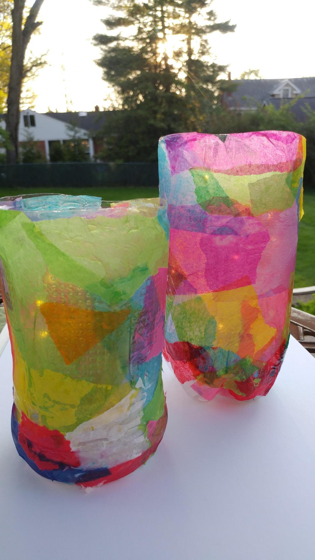 plastic art lanterns