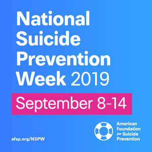 National Suicide Prevention Week 9/8-9/14