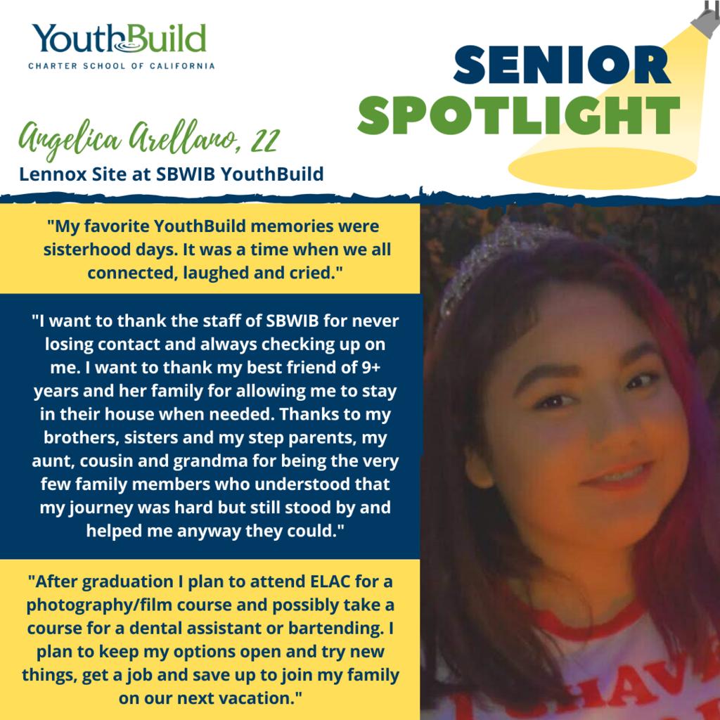 Senior Spotlight for graduate Angelica Arellano