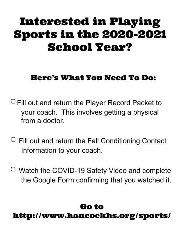 What students need to do to play sports in 2020 2021