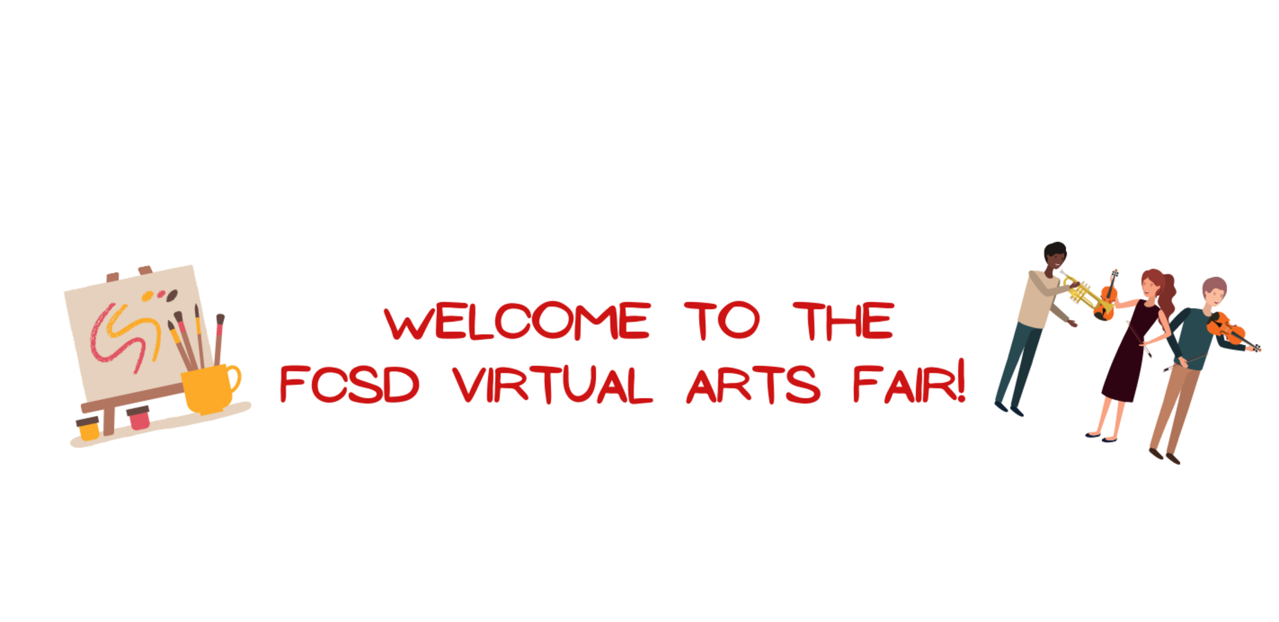 Click on this image to access the links for the virtual arts fair!