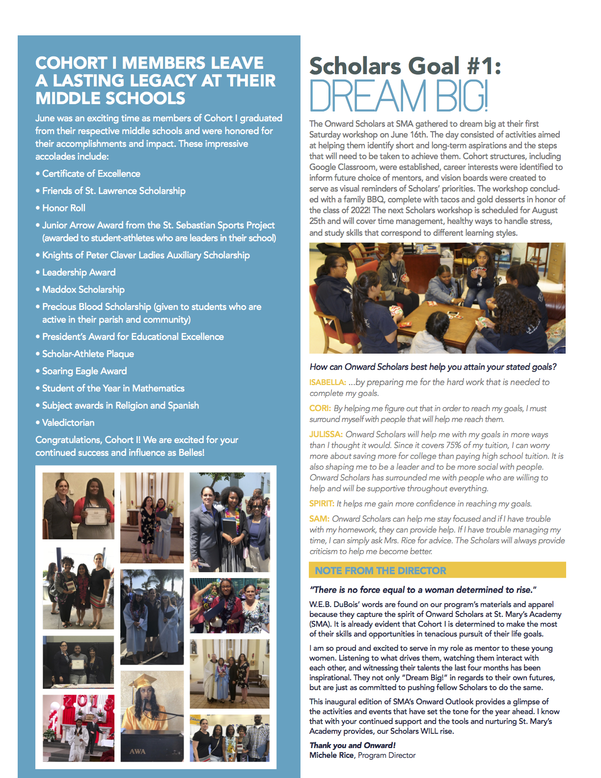 newsletter 1 page 2