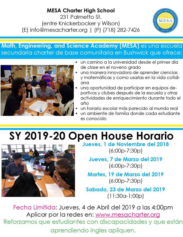 Open House 2018-2019 Span.