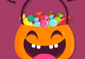 Image of pumpkin and candy