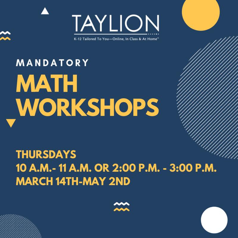 Math Workshops Flyer