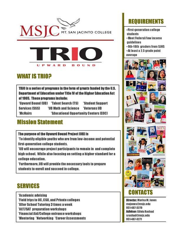 MSJC TRIO Upward Bound