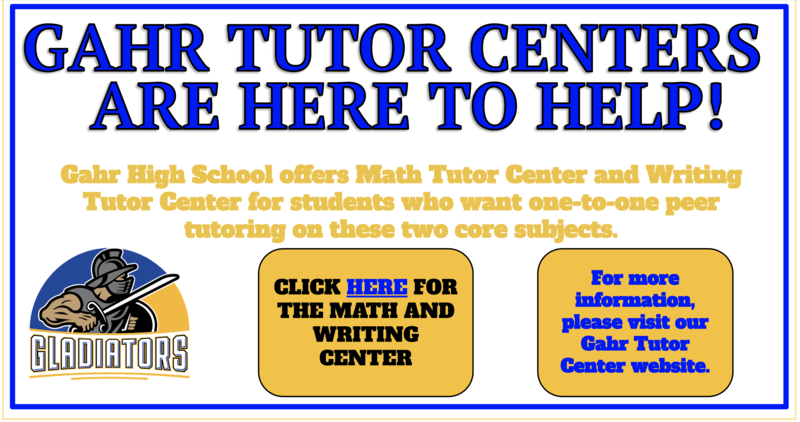 MATH AND WRITING CENTERS