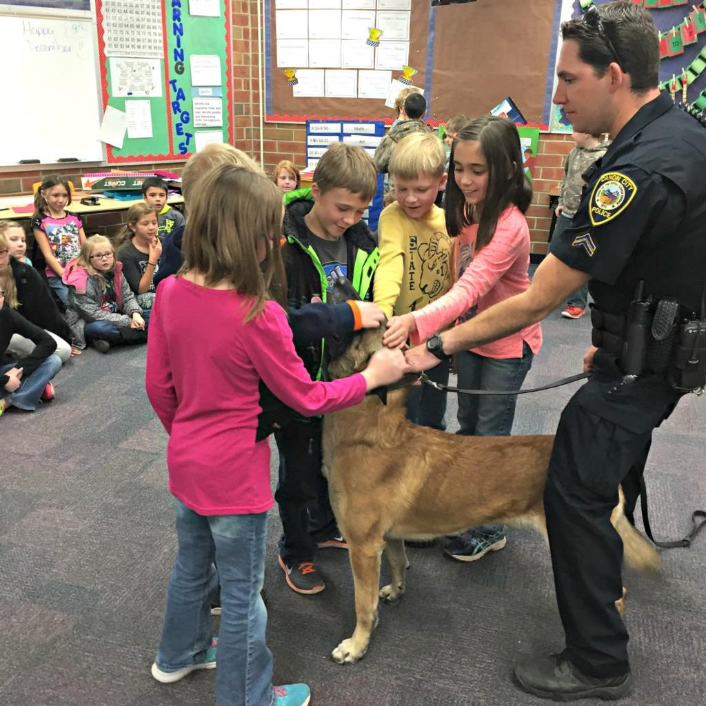 K-9 Dog with 3rd graders #1