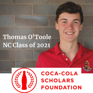 Thomas O'Toole Coco-Cola Scholar North Catholic High School