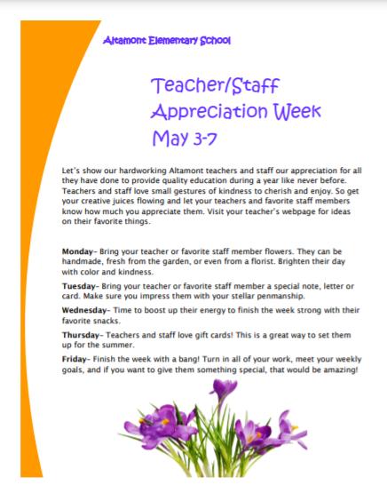 Teacher Appreciation Flier