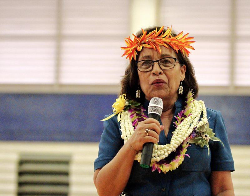 President Hilda C. Heine Spoke with Students