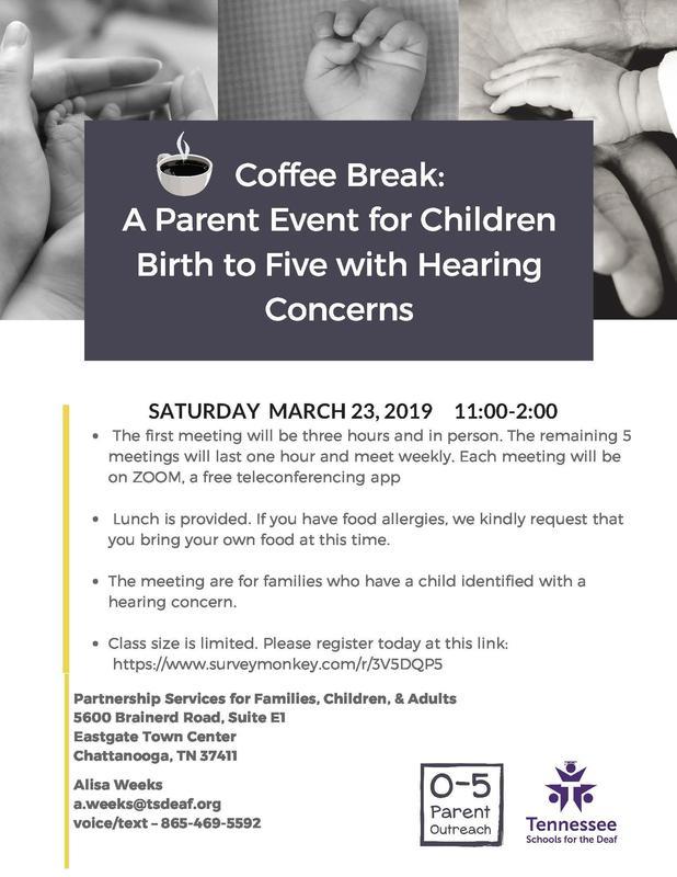 coffee break flyer