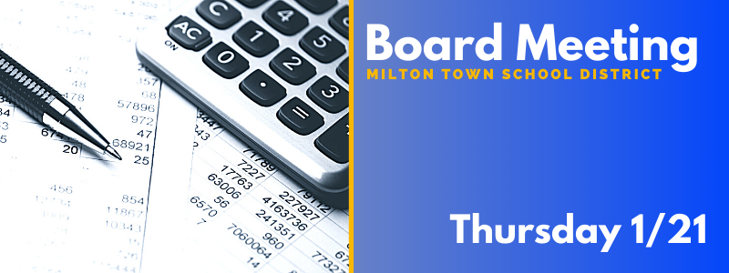 Board Meeting Thursday, 1/21