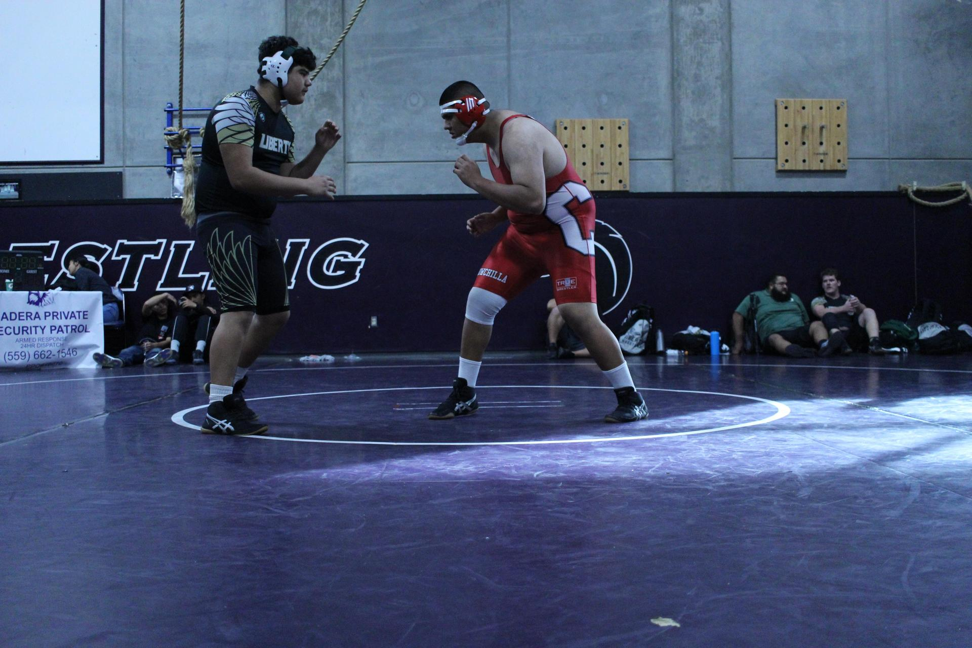 wrestlers in action at madera south