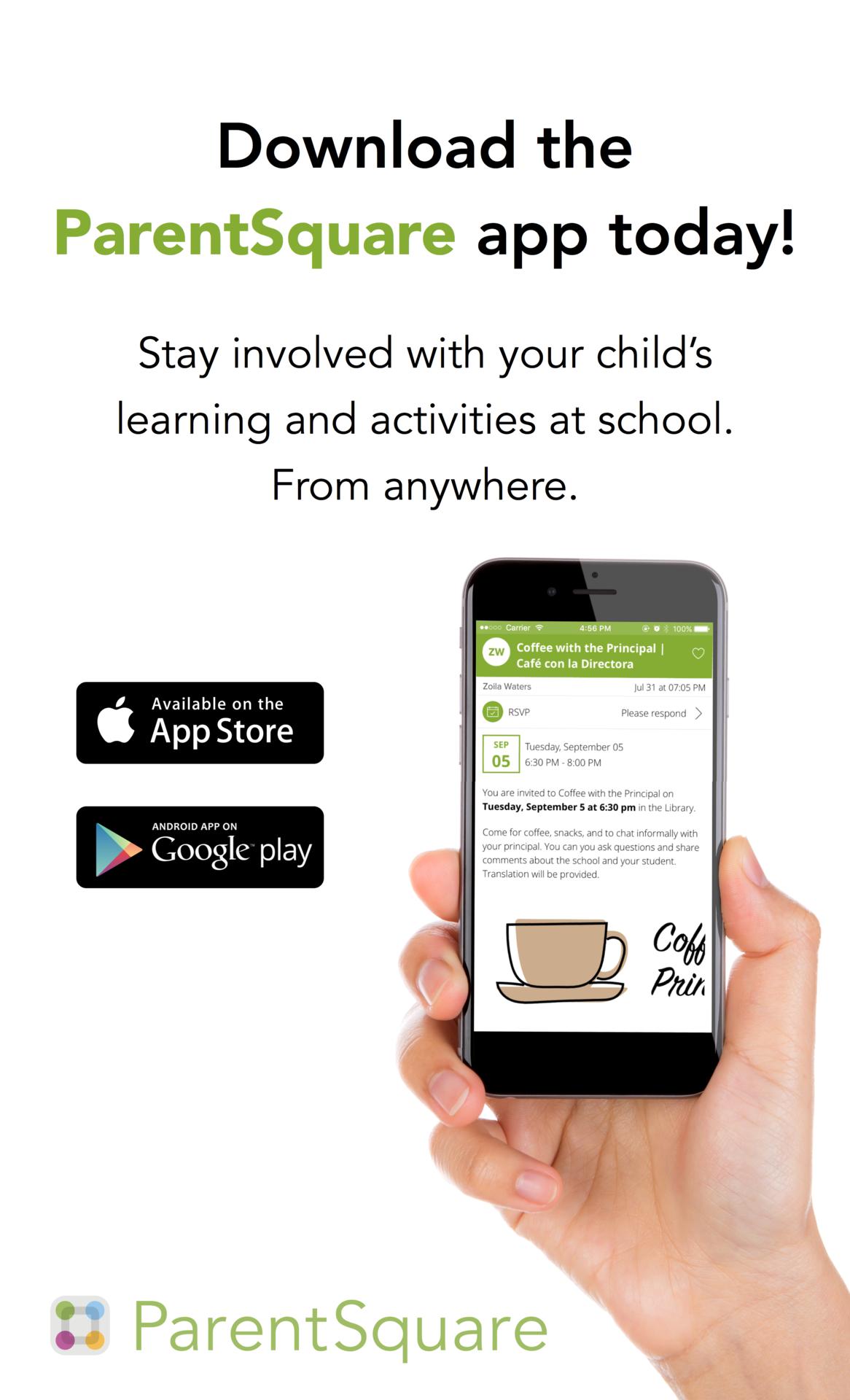 Download the Parent Square App poster