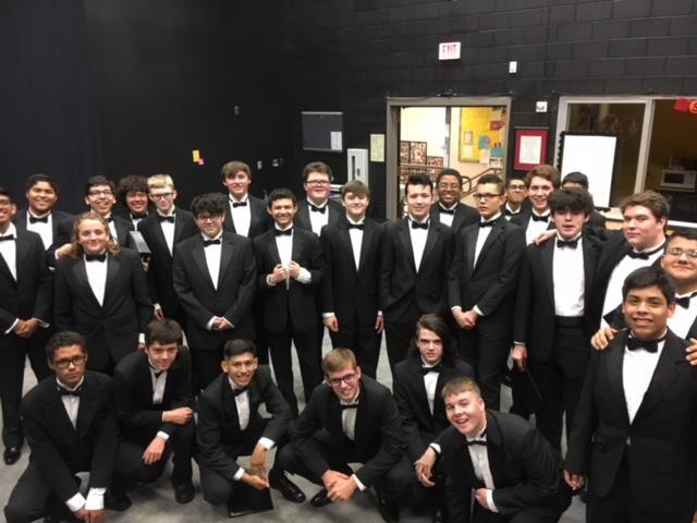 Men's Choir about to perform