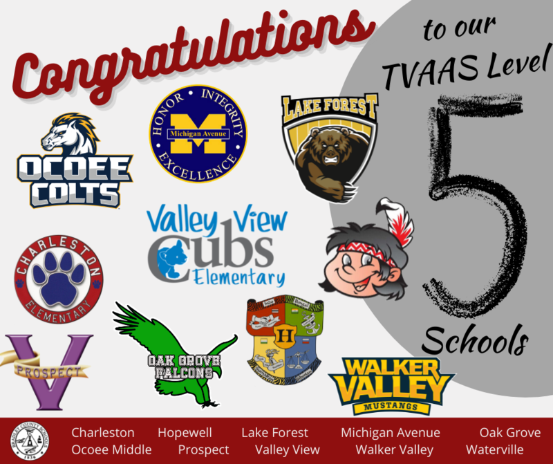 Congratulations to our TVAAS Level 5 Schools! Featured Photo