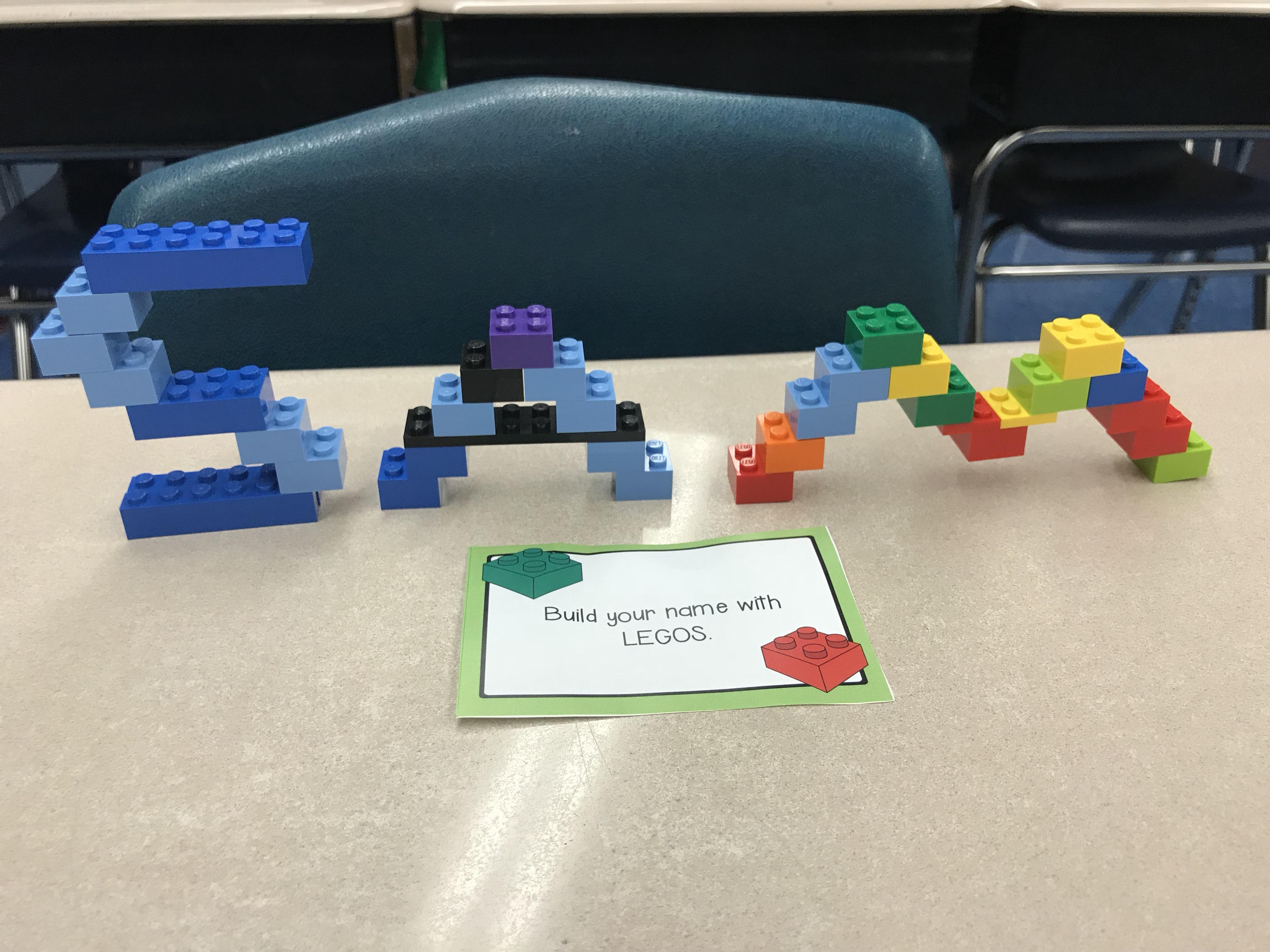 build you name in legos activity
