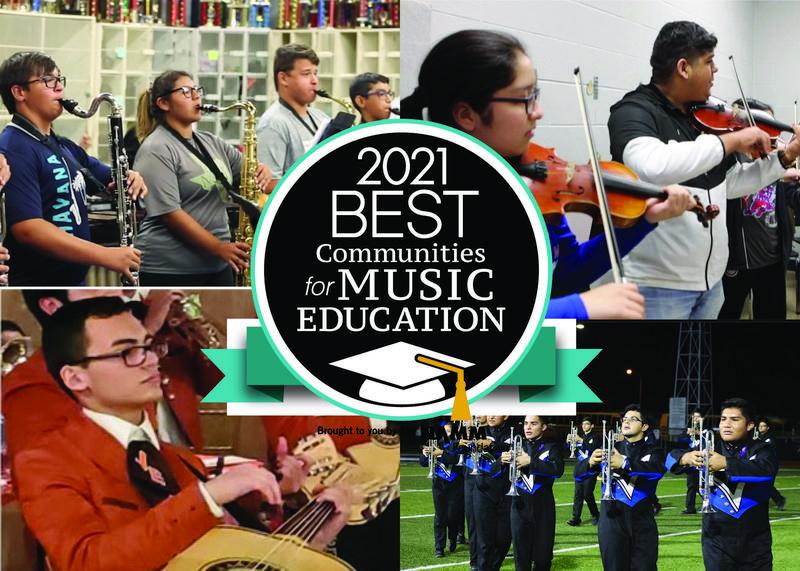 Edinburg CISD Fine Arts Program honored with national music award for the sixth consecutive year.