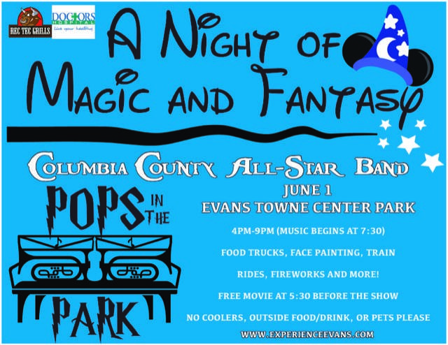 Columbia County All-Star Band Performance Saturday, June 1  from 4 - 9 p.m. Music Begins at 7:30 p.m.