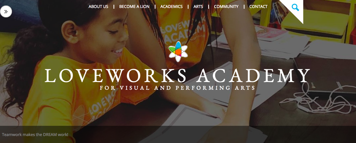 LoveWorks Academy for Visual and Performing Arts homepage