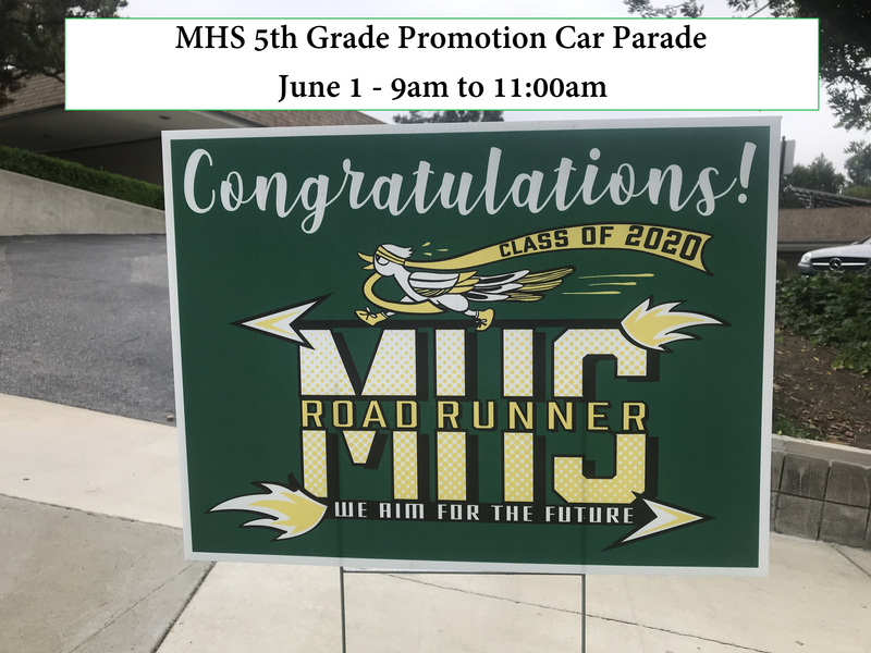 MHS - 5th Grade Promotion Car Parade - June 1 Featured Photo