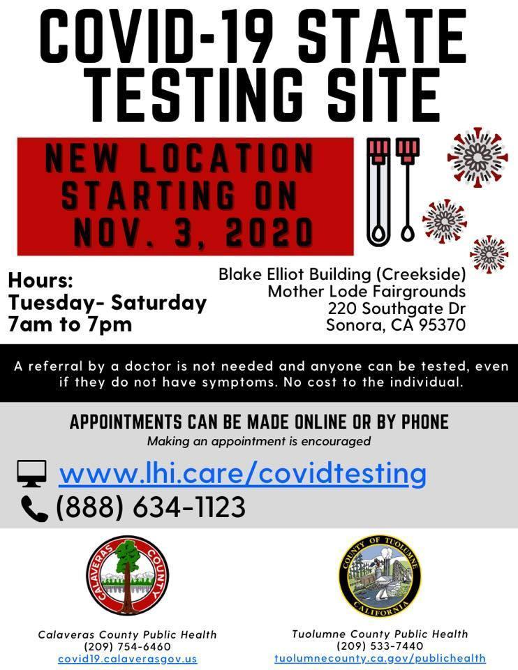 testing COVID info