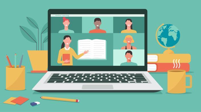 Online Teaching computer screen