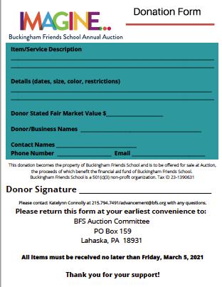 2021 Donation Form